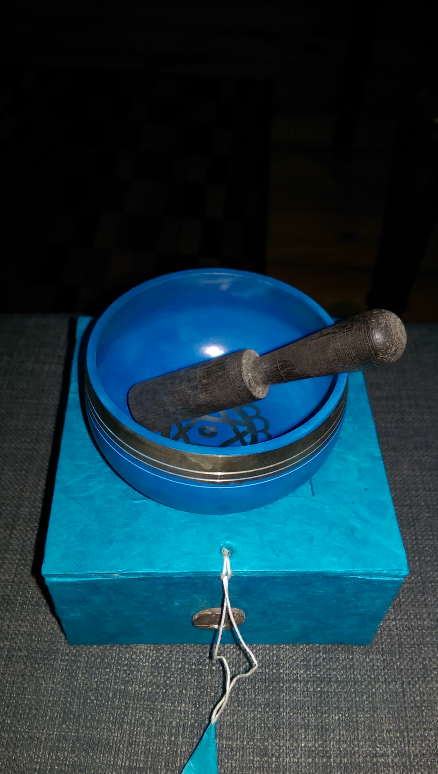 Small Blue Singing Bowl
