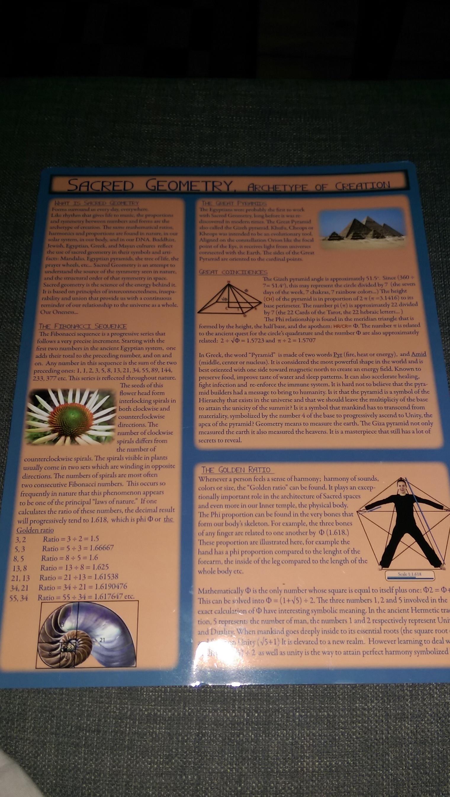 Sacred Geometry Chart